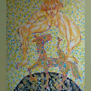 Art, Paintings for sale, Картини за продажба,Donkey's wedding (Магарешка Сватба)