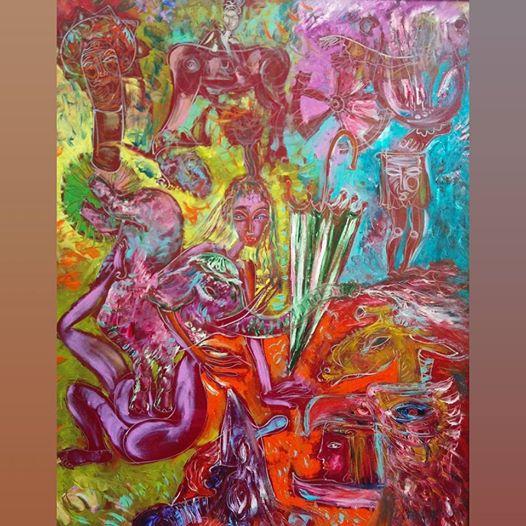 Art, Paintings for sale, Картини за продажба,Umbrella of Freud after the flood (Чадърът на Фройд след потопа)