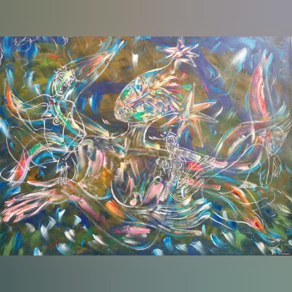 Art, Paintings for sale, Картини за продажба,Dive deep into the femininity (Потопи се дълбоко в женствеността)
