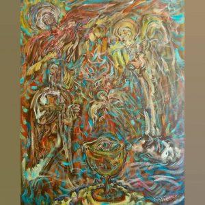 Art, Paintings for sale, Картини за продажба,The secrets of the Holy Grail (Тайните на Свещенния Граал)